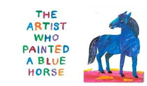 The artist who painted a blue horse en Little London