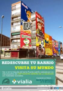 Expo Vialia con materiales reciclados