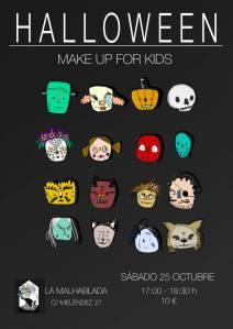 Make Up for kids de Halloween en La Malhablada