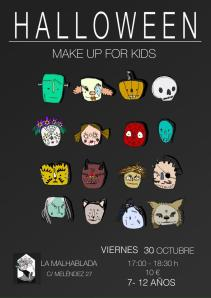 Make Up for Kids en La Malhablada el 31 de octubre