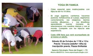 Yoga en Familia en Espacio Psicología