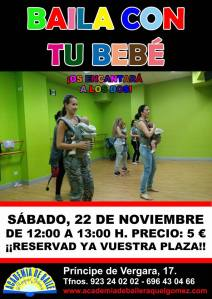 Baila con tu bebe en la academia de Raquel Gómez el 22 de noviembre