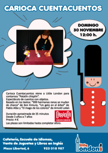 Cuentacuentos con Carioca y Patatin Chisplin en Little London (1)