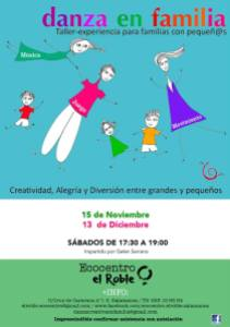 Danza en Familia en Ecocentro El Roble en noviembre