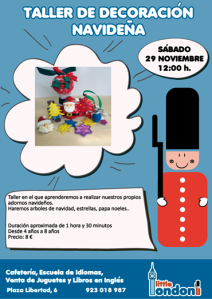 Taller de adornos navideños en Little London