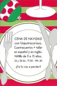 Cena de Navidad de Unpuntocurioso en La Malhablada el 26 y 28 de diciembre