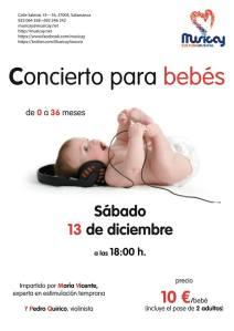 Concierto para bebés en Musicay el 13 de diciembre