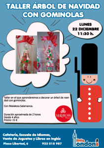 Taller de decoración con gominolas en Little London el 22 de diciembre