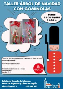 Taller de decoración con gominolas en Little London el 22 de diciembre