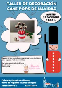 Taller de decoración de cake pops de Navidad el 23 de diciembre en Little London