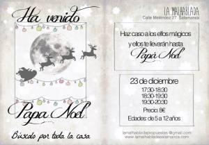 Visita de Papa Noel en La Malhablada