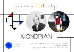 Artivity con Mondrian en Espacio Nuca el 31 de enero