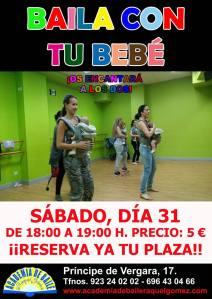 Baila con tu bebé en la Academia de Raquel Gómez de Salamanca el 31 de enero