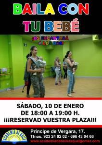 Baila con tu bebé en la Academia de Raquel Gómez el 10 de enero de 2015