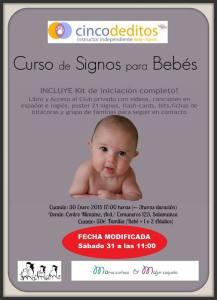 Curso de signos para bebés en Mímame el 31 de enero