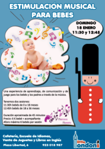 Estimulación musical para bebés el 18 de enero en Little London