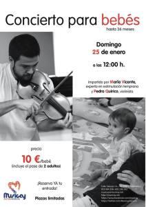 II Concierto para bebés en Musicay el 25 de enero