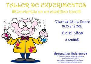Taller de Experimentos en Aprendiver el 23 de enero