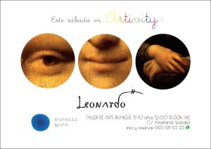 Leonardo en el Artivity de Espacio Nuca del 7 de febrero