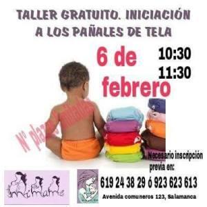 Taller de pañales de tela en Mímame el 6 de febrero