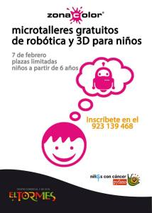 Talleres de robótica con Zona Color en El Tormes el 7 de febrero